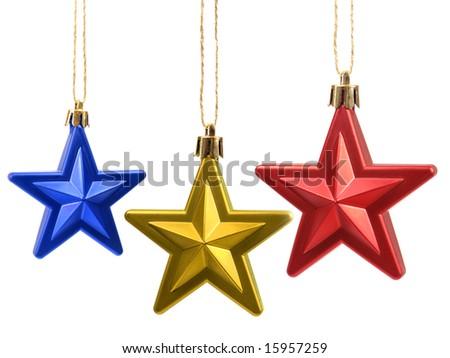 Christmas tree stars decoration