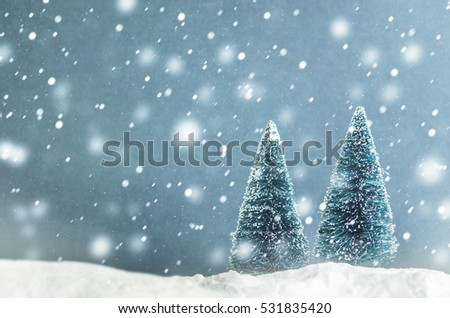 Stock Photo Christmas tree toy with snow. Christmas holiday celebration and new year 2017 background concept, copy space.