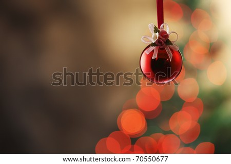 Christmas tree with christmas ornament.