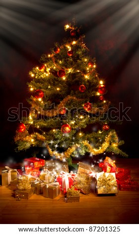 Christmas tree with gifts #87201325