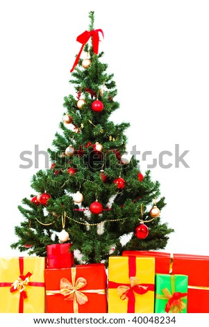 Christmas Tree With Presents And Gifts Ez Canvas