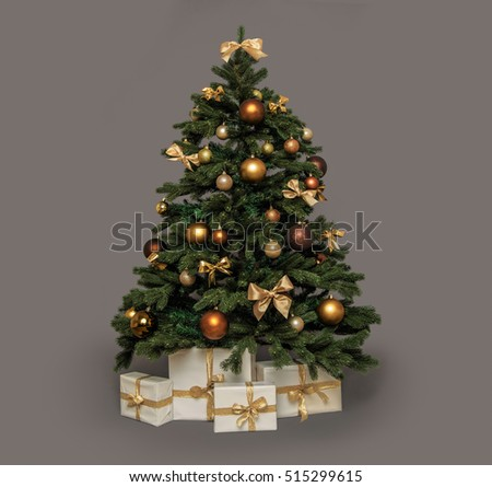 christmas tree with presents under #515299615
