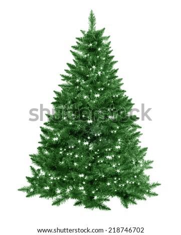 Christmas tree with star lights