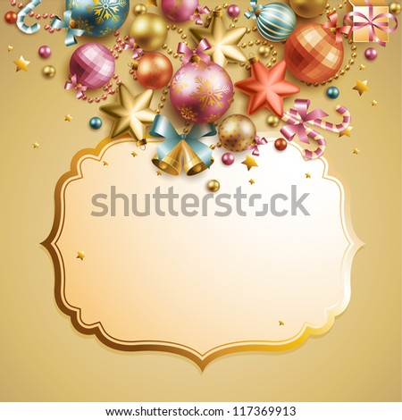 Christmas vintage background. Check my portfolio for vector version.