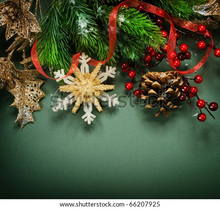 Christmas Vintage decoration border design