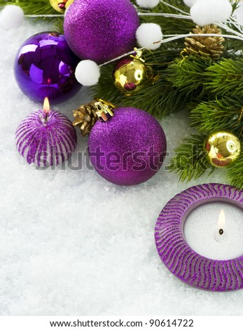 Christmas Violet Decorations