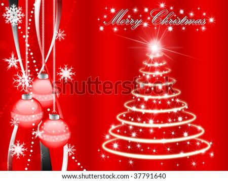 christmas snow wallpaper. stock photo : Christmas
