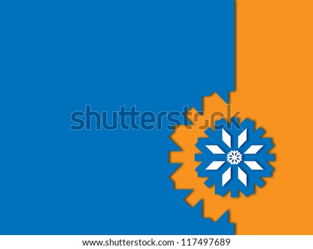 christmas wallpaper blue snowflake on orange a blue background