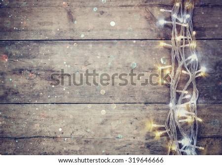 christmas warm gold garland...