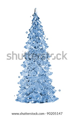 Christmas water tree isolated on white