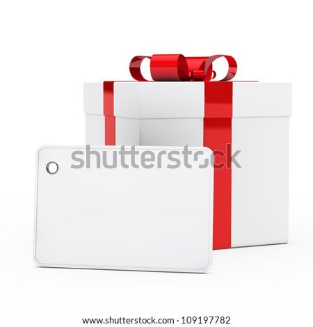 christmas white gift box red ribbon signboard