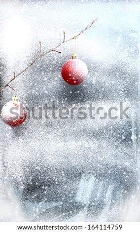 Christmas windows background decoration