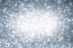 Christmas winter abstract silver sparkle glitter background with copy space
