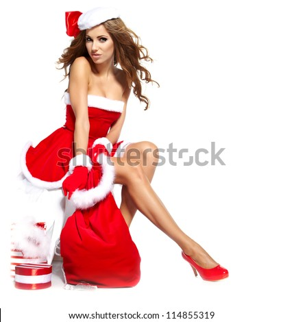 Christmas women with gifts