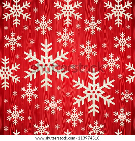 Christmas wooden snowflakes seamless pattern card background. illustration background.
