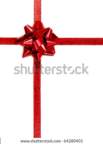 Christmas wrapping isolated against a white background