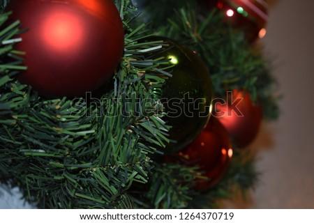 Christmas wreath closeup #1264370719
