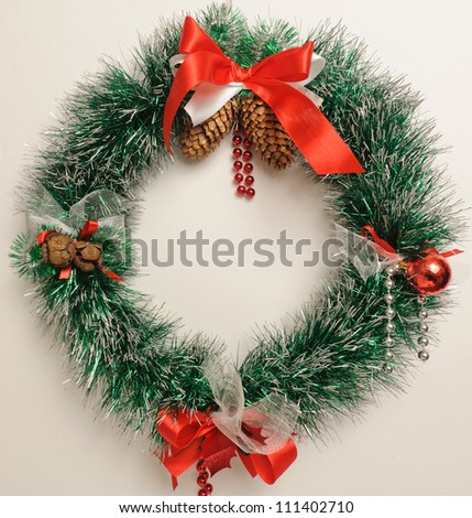 Christmas wreath. The picture of Christmas wreath on white