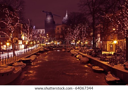 Christmastime in Amsterdam the Netherlands