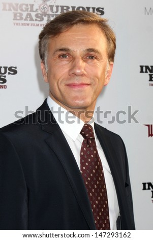 Christoph Waltz arriving  at the Los Angeles Premiere of Inglourious Basterds at Grauman's Chinese Theater in Los Angeles, CA  on August 10,  2009