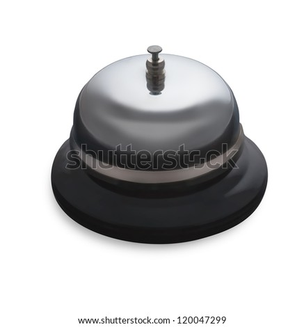 Chrome bell isolated on a white background