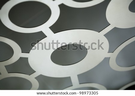 Chrome circle structure