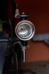Chrome headlight from an old carriage