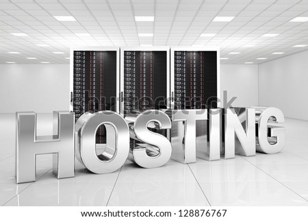 Chrome Hosting letters in data center