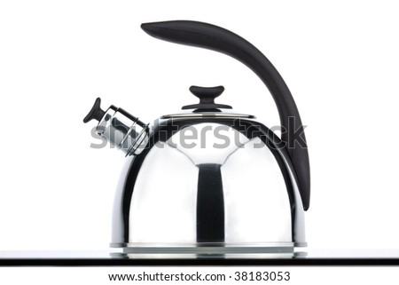 chrome kettle isolated in white background