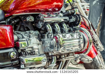 chrome parts of motorcycle engine, motorcycle engine #1126165205