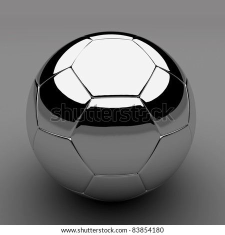 Chrome shiny soccer ball