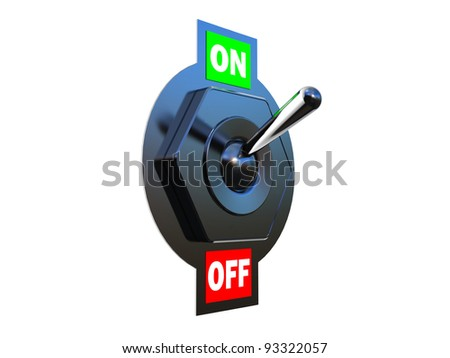 Chrome Toggle switch (ON)  3D images