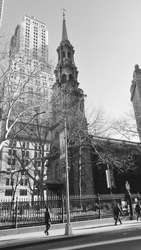 Chruch view in NYC downtown