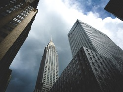 Chrysler Building in weather
