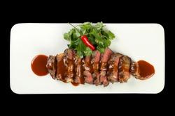 Chuck Steak with Jack Sauce, transparent background