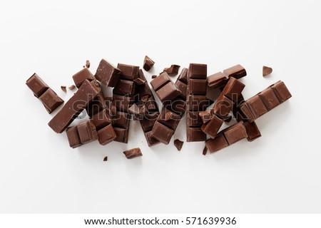 Chunks of Dark Chocolate  #571639936