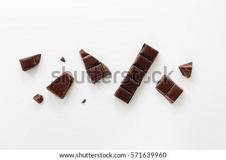 Chunks of Dark Chocolate  #571639960