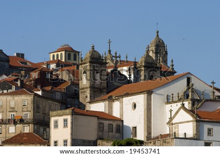 Church and buildings in Porto, Portugal #19453741