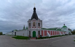 Church architecture of Murom, a city in Russia.