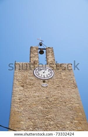 church at village in Girona Catalonia Spain