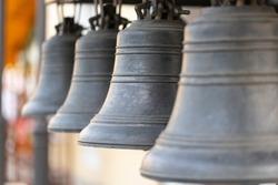 Church bell, several Church bells, bell ringing