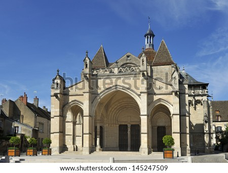 Church called Notre Dame de Beaune in the town Beaune in Burgundy,France