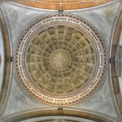 Church dome interior.