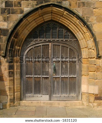 Church Door at St Mary's, Scarborough Yorkshire