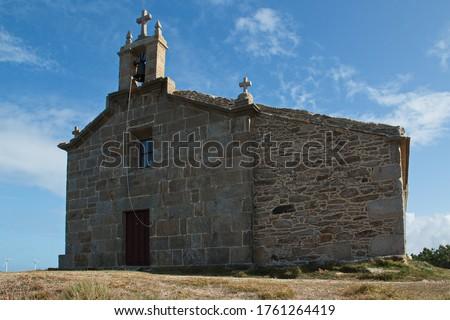 Church 'Ermida de Nosa Señora do Monte' on Costa da Morte at Camariñas in Galicia,Spain,Europe  Zdjęcia stock ©