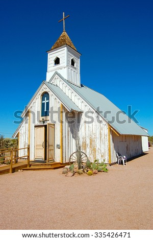 Church in Apache Junction near the Superstition mountains. Located in the general Phoenix area.