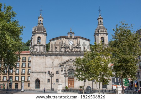 Church in Bilbao (in Spanish Iglesia de San Nicolás Bilbao) Northern Spain Province of Biscay Foto stock ©
