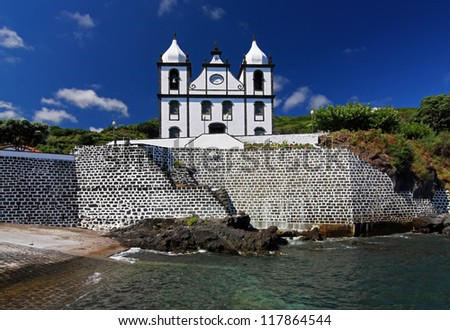 Church in Calheta de Nesquim (Pico Island, Azores Islands)