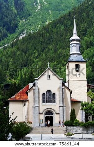Church in Chamonix, France, Europe