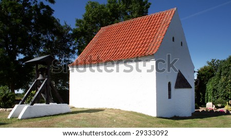 church in denmark in scandinavia. typical christian Evangelical Lutheran place of worship